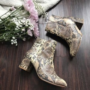 Urban Outfitters Snakeskin Style Booties Size 7